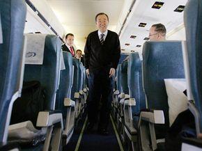 It's a good idea to move around on a plane, like United Nations Secretary General Ban Ki-Moon.