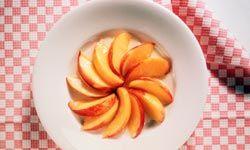 Honey sauce enhances this dish of nectarines.