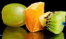 Fruit kabobs can make for a healthy dessert that's fun to eat as well.