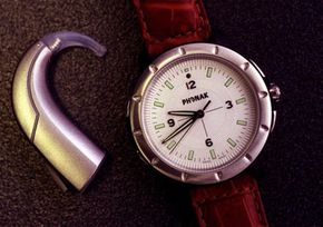 This wristwatch doubles as a hearing-aid remote.