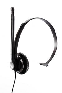 People with hearing loss can get a special phone or a headset to help them hear on the phone.