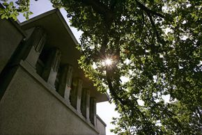 Architect Frank Lloyd Wright's famed Unity Temple near Chicago was renovated in 2005 to include eco-friendly geothermal heating and cooling systems.