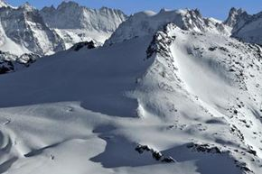 The Rosablanche in the Swiss Alps