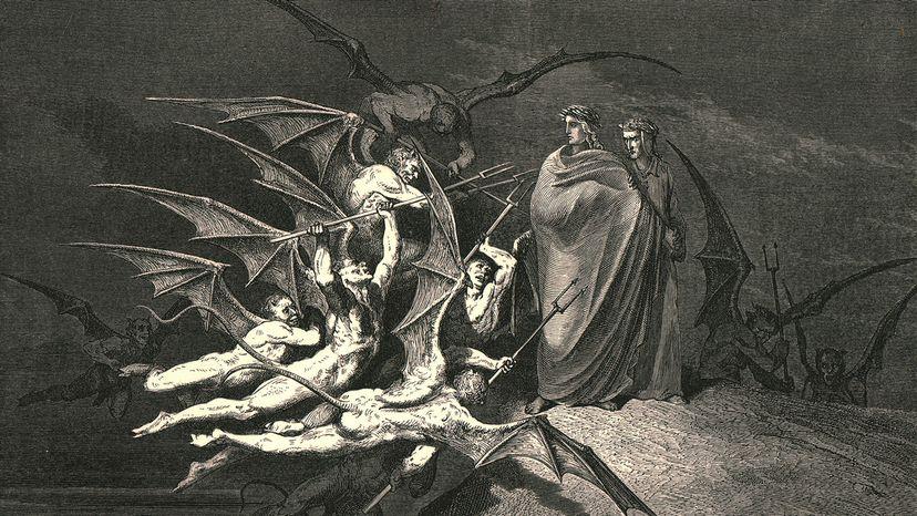 """""""The Divine Comedy"""" (La divina commedia) by Dante Alighieri."""