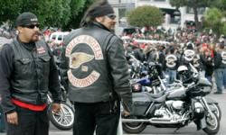 Hells Angels buried a chopper for one of their former presidents.