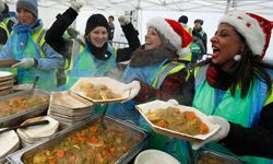 In London, England, they serve free lunches to highlight what a huge problem food waste really is.