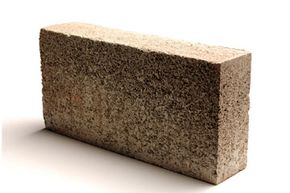 Hemcrete is a mixture of dried hemp stems and lime that is poured into thick, concrete-like blocks.