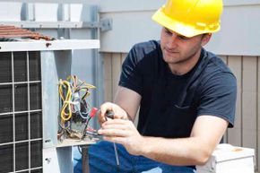 Have a HVAC technician come to your house in summer and winter to service your air conditioner and furnace.