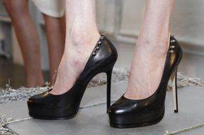 As you can see, high heels may put your feet at an uncomfortable angle.