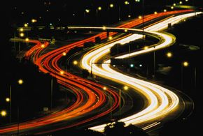 A long exposure of a motorway intersection in Perth, Australia.