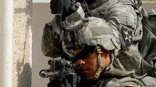 Can high-tech military gadgets improve safety for soldiers and civilians in combat?