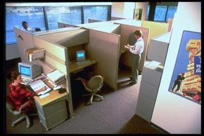 There are several things that computer users can do to hide their computer screens from intrusive bosses. See more computer pictures.