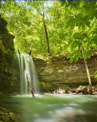 Amber Falls in the Ozark National Forest.