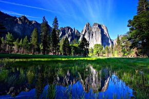 Yosemite National Park is a beautiful place to hike year-round. See more national park pictures.
