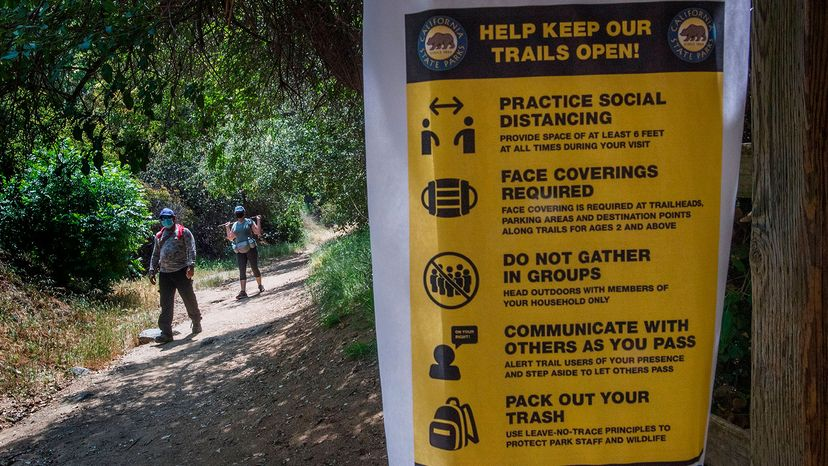 sign in Franklin Canyon Park