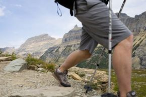 Make sure your hiking stick is the right height or easily adjustable.