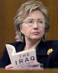 Senator Clinton, shown in December 2006 in Washington, has voted largely in opposition to the Iraq War.