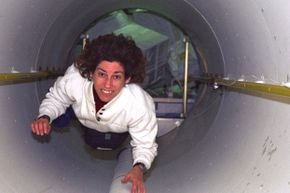 What better image to start with than with this picture of Ellen Ochoa, the first female Hispanic astronaut! Here she is on her third spaceflight, helping to transport supplies from the space shuttle Discovery to the International Space Station in spring 1999.