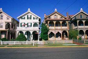 These 19th century homes are part of the historic district in Cape May, N.J.
