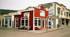 Skagway, Alaska's historic district, includes buildings from the gold rush era.