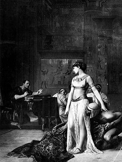 Cleopatra in Caesar's court