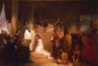 John Rolfe and Pocahontas