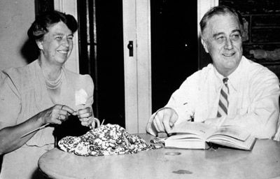 Franklin Delano and Eleanor Roosevelt