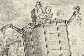 Some historical representations of robots are silly, but there are many examples of automata from the past that are no joke.