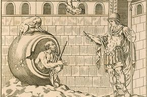 Diogenes of Sinope is pictured with Alexander the Great. Diogenes was a famous Cynic.