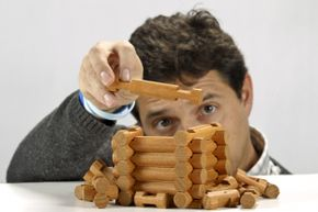 Like the Erector set, Lincoln Logs are used to build objects.