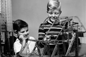 The intricate Erector set was fun and functional.