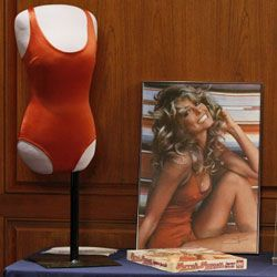 Farrah Fawcett's famously hot red suit made it into the Smithsonian's collection Feb. 2, 2011.