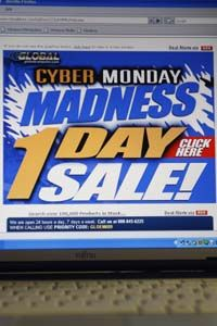 """E-commerce has grown; it's estimated that 72 million users shopped online on """"CyberMonday,"""" on November 26, 2007."""