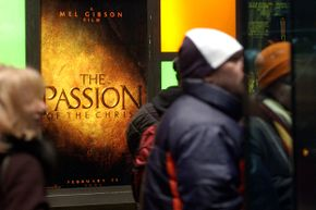 """Despite -- or sometimes because of -- the extreme violence in the film, Mel Gibson's """"Passion of the Christ"""" attracted huge lines at theaters."""