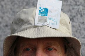 That protester has a bag of medical marijuana on his head. In 2011, supporters of medical marijuana protested the U.S. Drug Enforcement Agency prosecuting people in compliance with state medical marijuana laws.