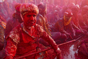 Holi means getting thoroughly coated in gulal.