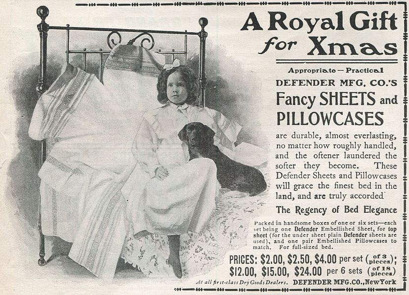 A 1900 print ad shows fancy linens for 'Xmas.' The substitution of 'Xmas' for the word 'Christmas' has a long and honorable history. Andy Katz/Pacific Press/LightRocket via Getty Images