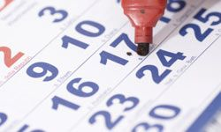 A simple calendar can help you plan ahead for any holiday.