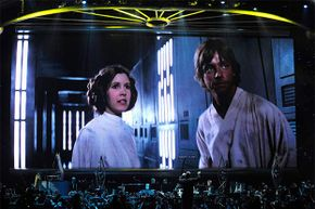 Princess Leia and Luke Skywalker (from 'Star Wars') may have come from a galaxy far far away, but their English was terrific.