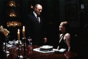 If there's evil lurking in Hollywood, a British accent is not far behind; here, Anthony Hopkins plays Hannibal Lecter in 'Silence of the Lambs.' Brits are in great demand when the script calls for someone highbrow, villainous or just 'foreign.'
