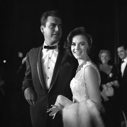 Natalie Wood and Robert Wagner at a Los Angeles event in 1959, a little more than a year after their first marriage.