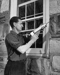 Even before the era of home energy audits, thrifty homeowners knew the value of caulking drafty window frames.
