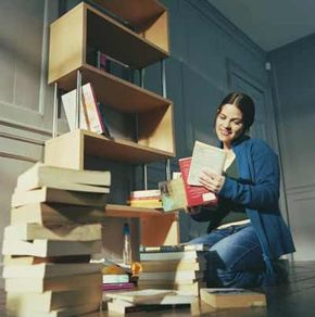 Your method of organizing books may only make sense to you.