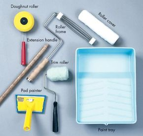 Paint rollers, pads and trays are essential for the painter's toolkit.