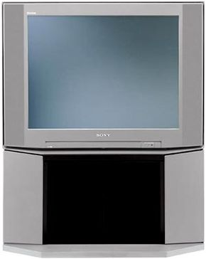 A 32-inch direct-view television from Sony: A direct-view television is certainly adequate for a simpler home theater system.