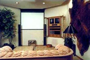 A custom-installed home theater system