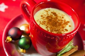 Spiked or not, eggnog is a very popular holiday treat for people of all ages. See more pictures of holiday noshes.