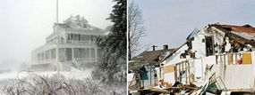 Some homeowners insurance policies cover damage from blizzards and tornados, but it's best to check with your provider to see if you're covered.