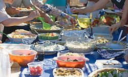 A little of this, a little of that -- that's the point of a potluck.