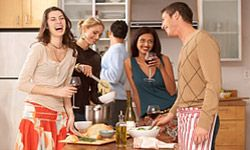 If nothing else, a potluck is a great opportunity to hang out with friends.